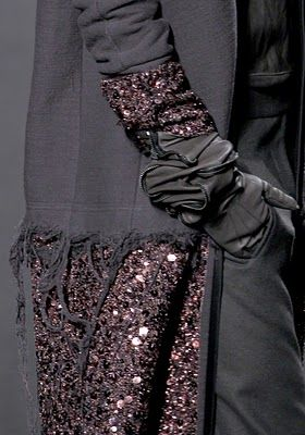 Detail, Haider Ackermann  My absolute favorite color to wear and decorate with!