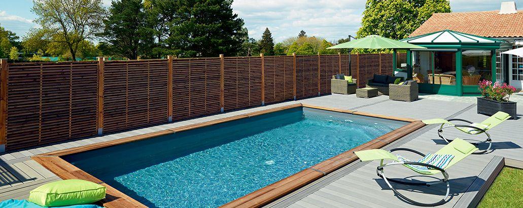 Am nagement ext rieur complet piscine bois panneaux for Panneaux de bois exterieur