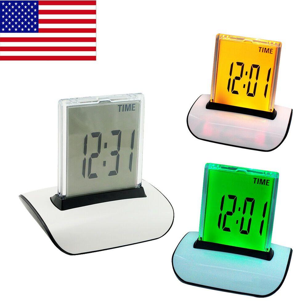7 Colors Led Change Digital Alarm Clock