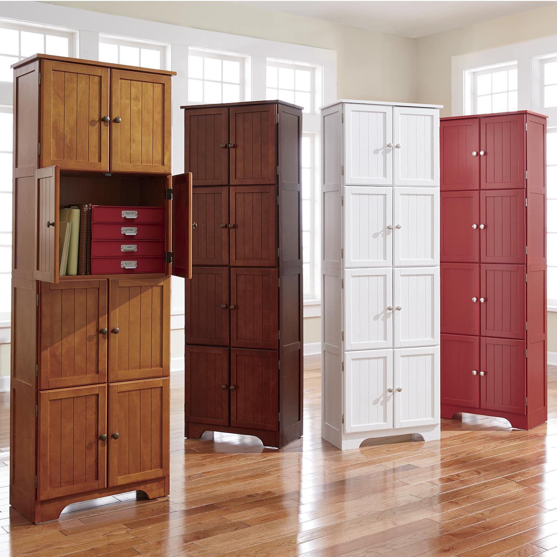 8 Door Wall Cabinet | Corner cabinet living room, Tall ...
