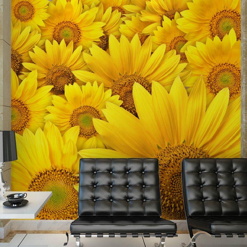 custom photo wallpaper modern minimalist sunflower ...