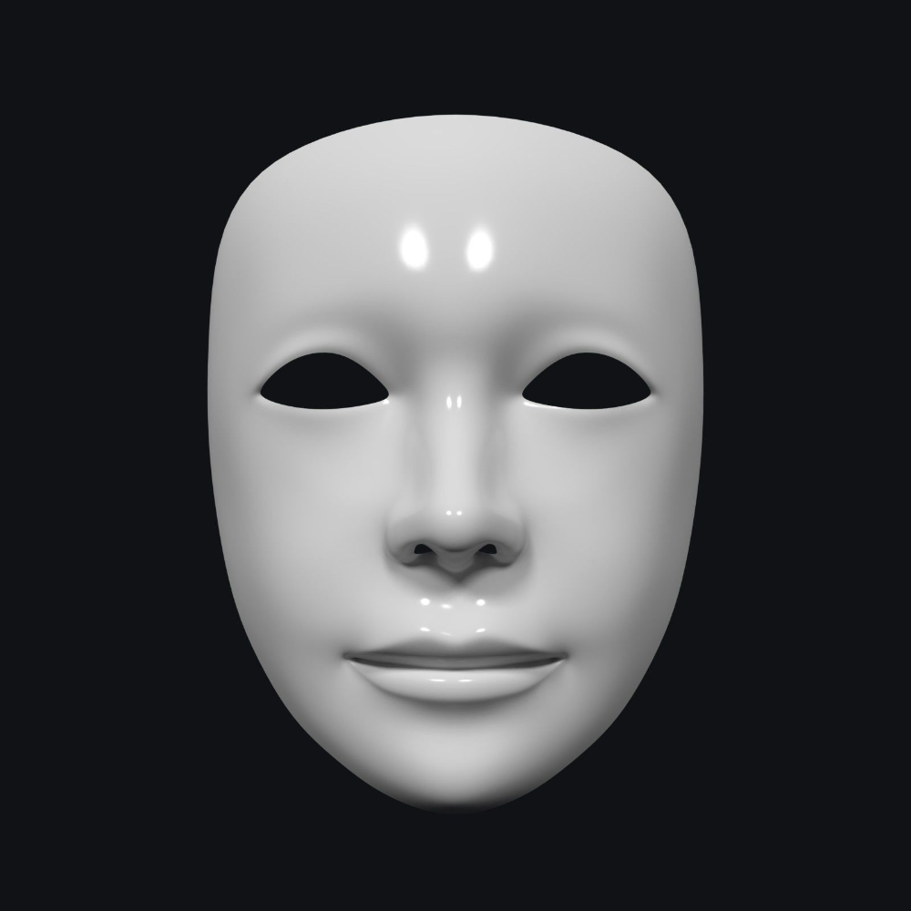 Neutral Theater Mask 3d Model In 2021 Theatre Masks Mask Opera Mask