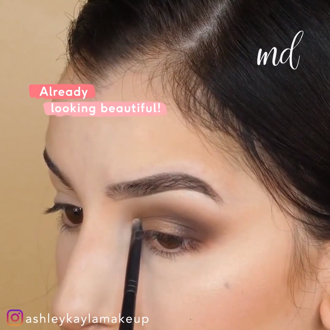 EYE SHADOW FOR BEGINNERS MAKEUP TUTORIAL #beginnersmakeup #makeuptips