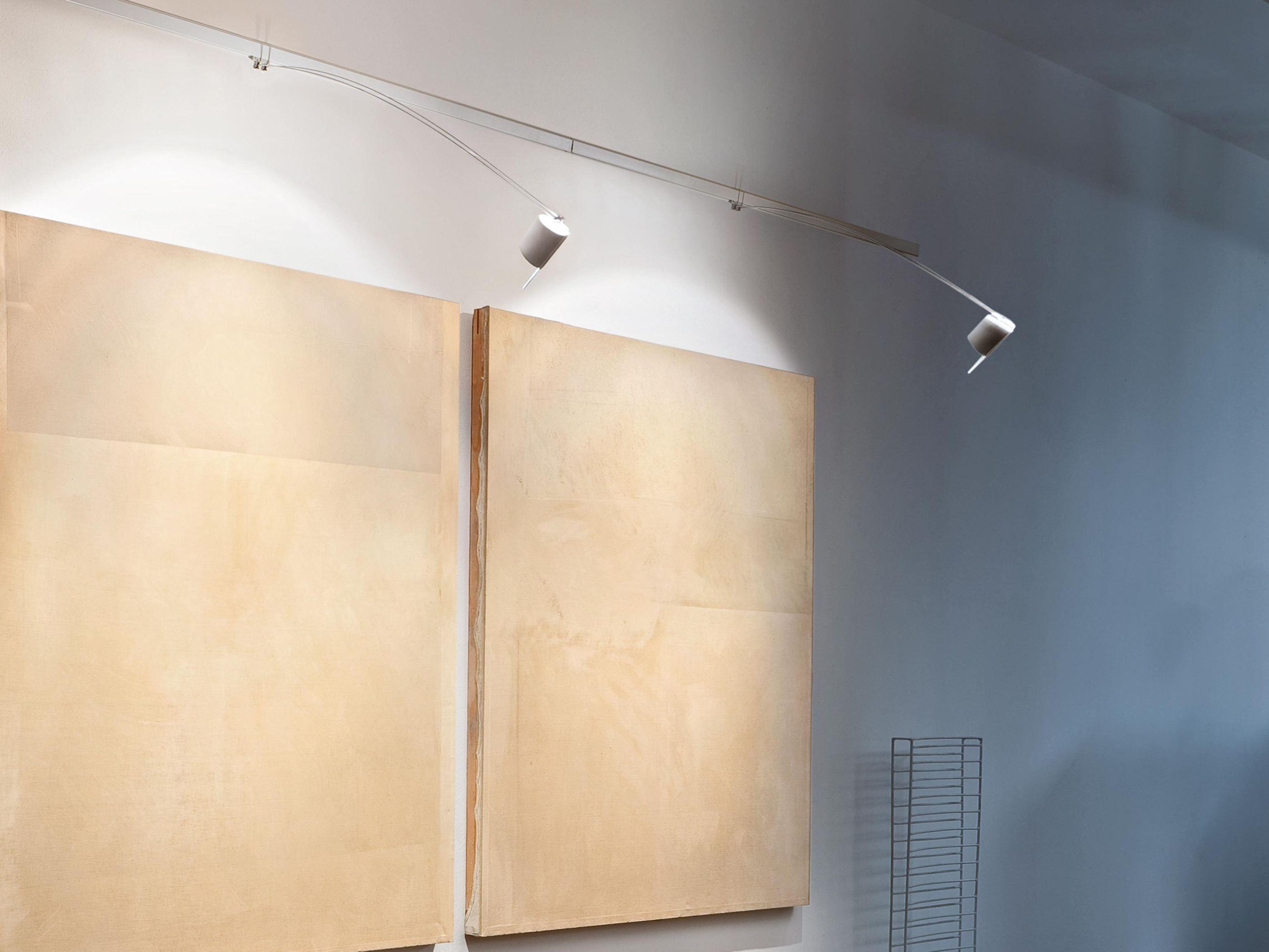 Lampada da parete a LED a binario per quadri LIGHTLIGHT® WALL Collezione Professional ...