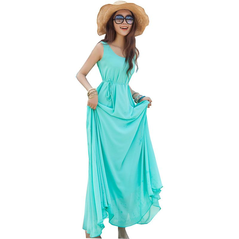 Cheap dress purchase, Buy Quality dress to impress men directly from China dress pants for women Suppliers: Summer dress 2017 flowing solid color Bohemian long Sanya holiday dresses in stock vestidos women's clothing LX005