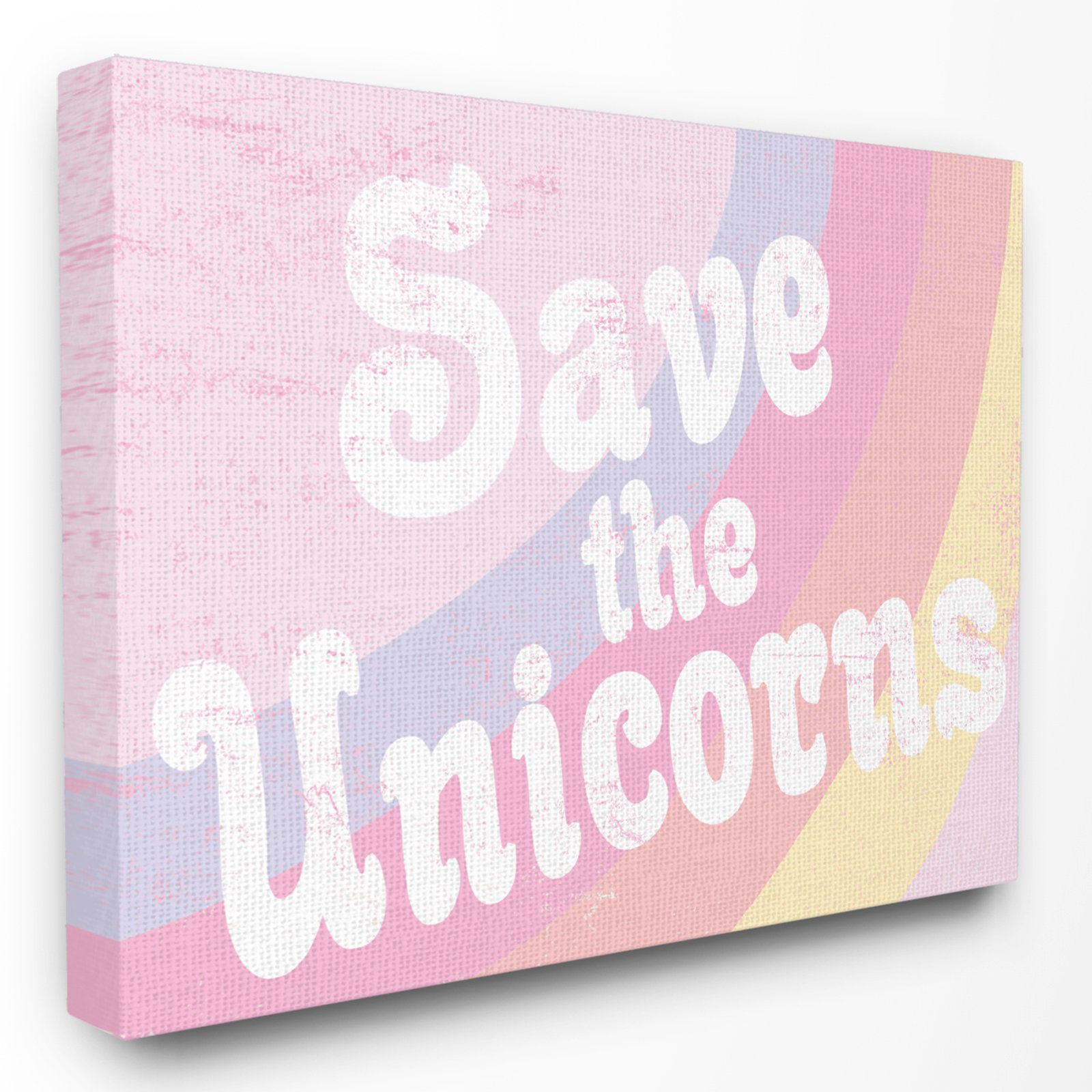 The Stupell Home Decor Collection The Kids Room By Stupell Save The Unicorns Wall Art Stretched Canvas Unicorn Wall Art Decor Kids Room Furniture