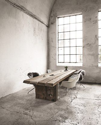 The Fundamental Idea Behind Thors Design Furniture Is That Of Upcycling.  Rustic Azobé Wood