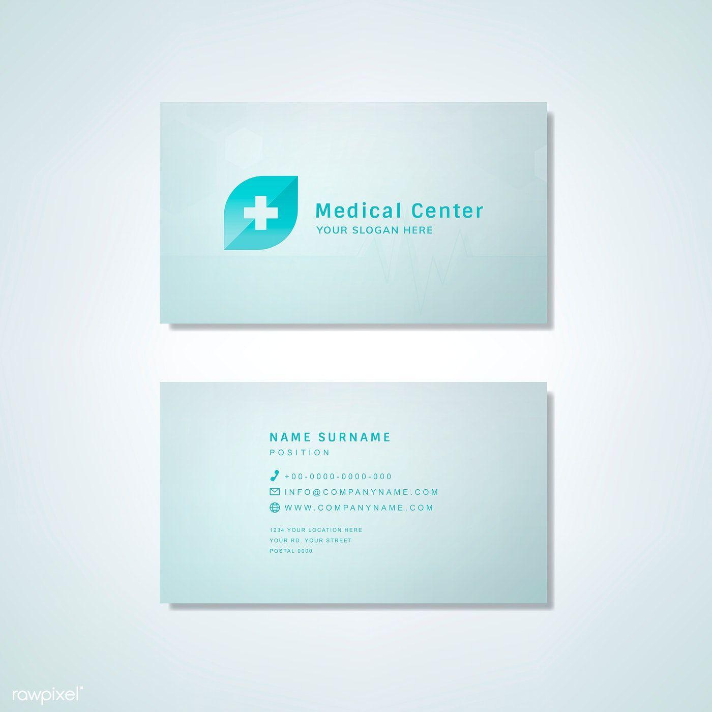 Medical Professional Business Card Design Mockup Free Image By Rawpixel Com Medical Business Card Design Medical Business Card Business Card Design Minimal