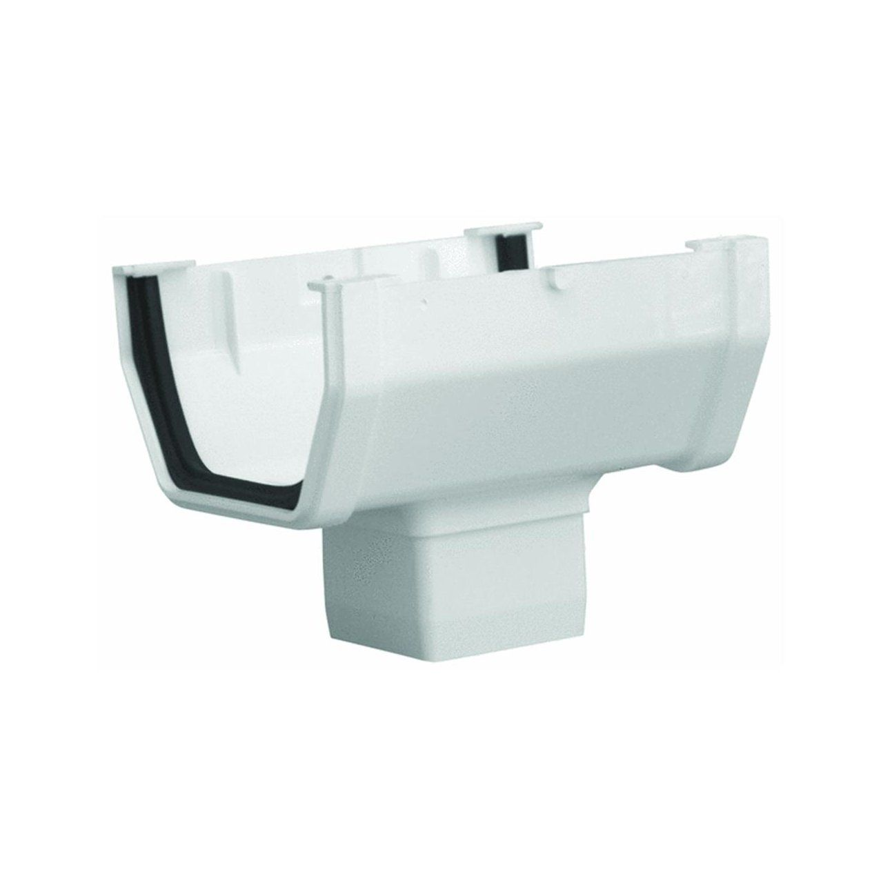 Genova Rw104 White Gutt Drop Outlet See This Great Product Vinyl Gutter Downspout Gutters