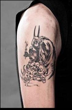 Andy Biersack Batman Tattoo