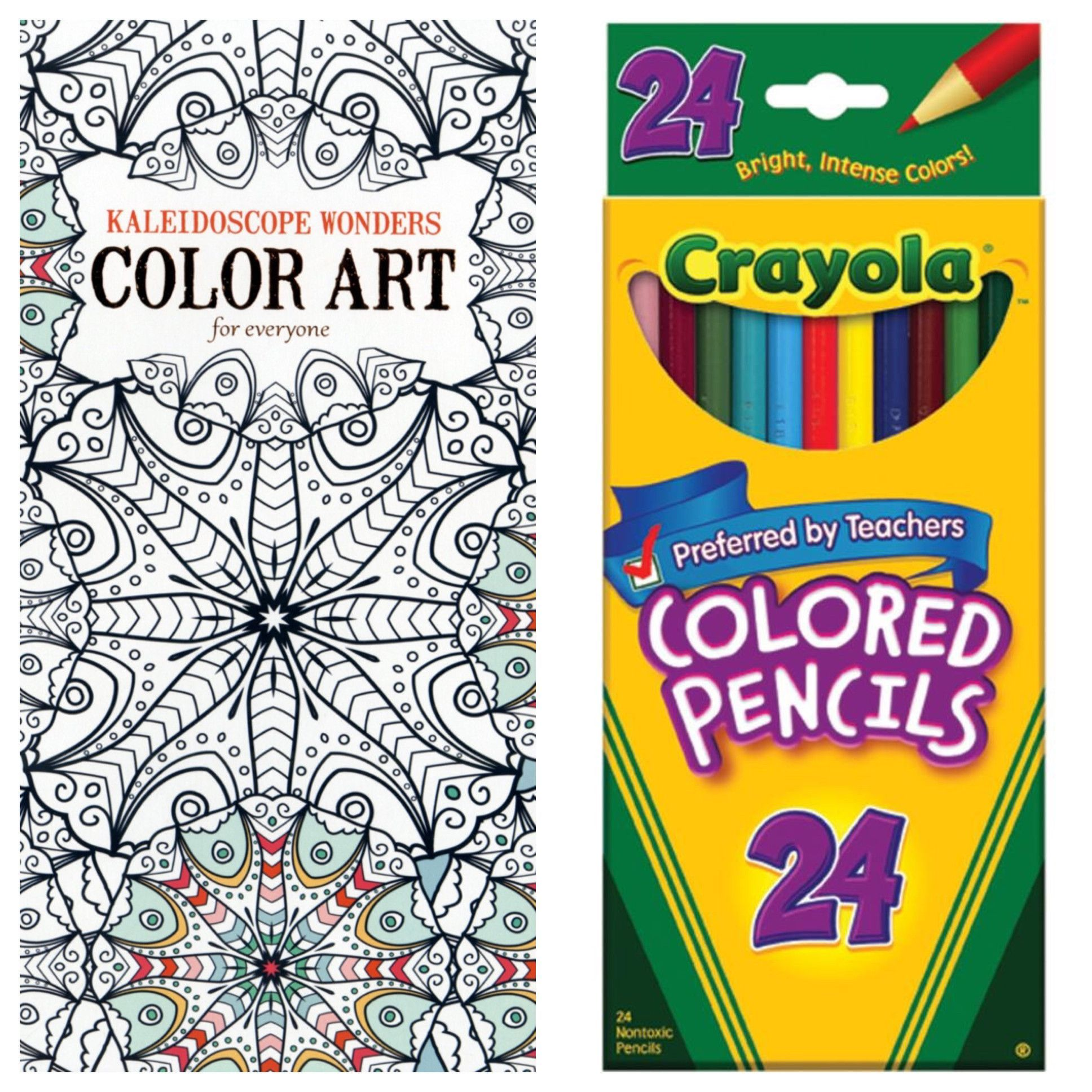 Kaleidoscope Wonders Adult Coloring Book With Crayola Colored ...