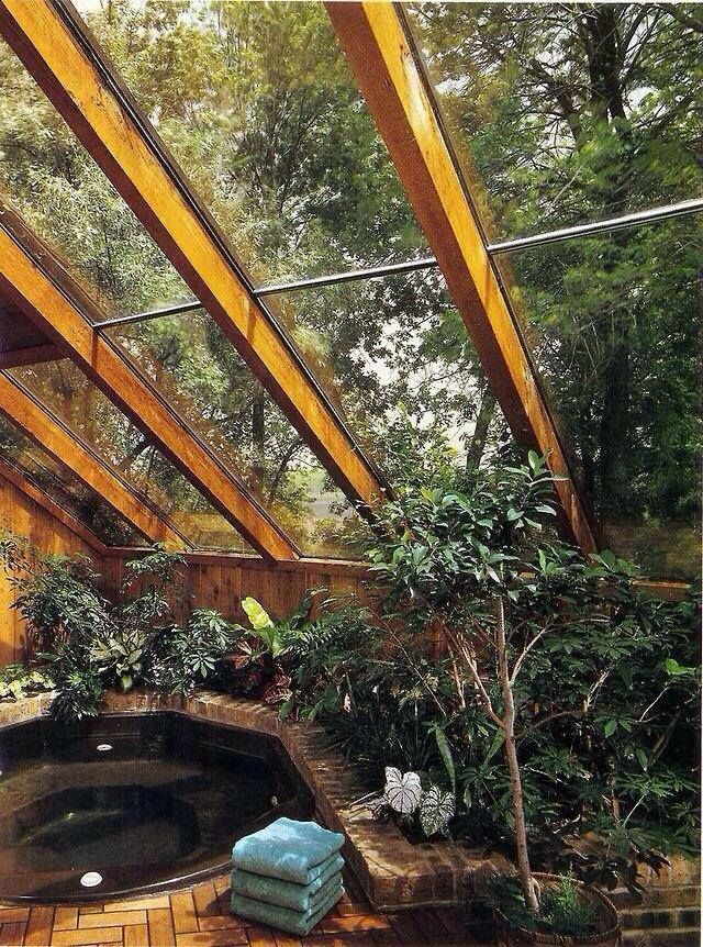 5 Twinkle Of An Elf Shared Faerie Magazine S Photo Twinkle Of An Elf Bohemian House Indoor Hot Tub Hot Tub Outdoor