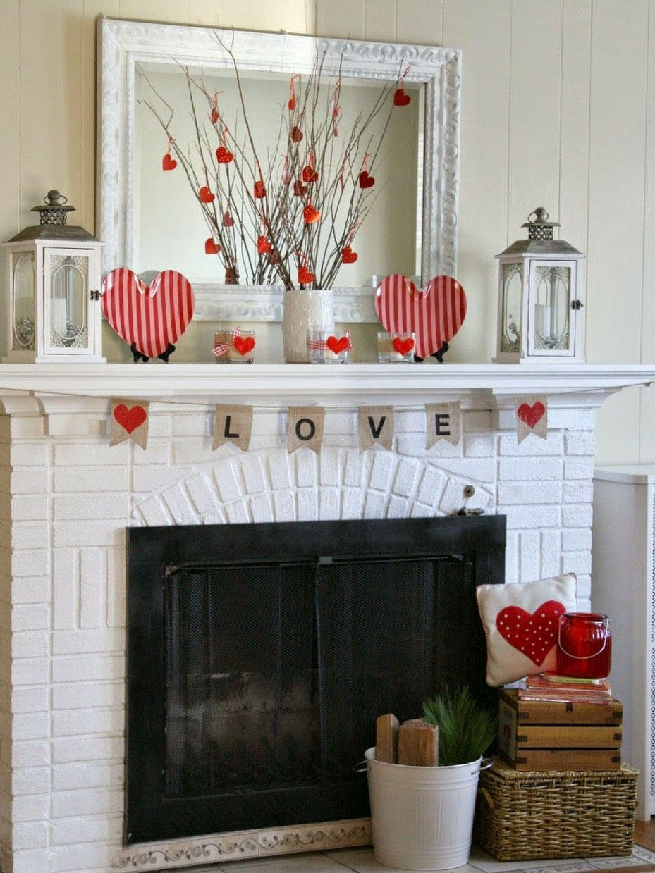 11 Valentine Decorations Ideas For Your Mantel Fun365 Diy Valentine S Day Decorations Valentine S Day Diy Diy Valentines Decorations