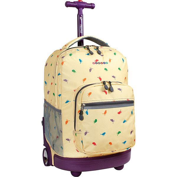 J World Sunrise Rolling Backpack - 18