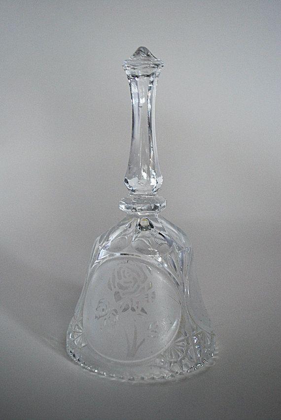 Vintage Crystal Dinner Bell Rose By Littleshoptreasures On