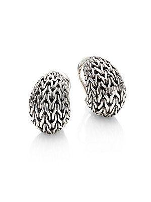 John Hardy Classic Chain Small Huggie Earrings w3ziN9RhI