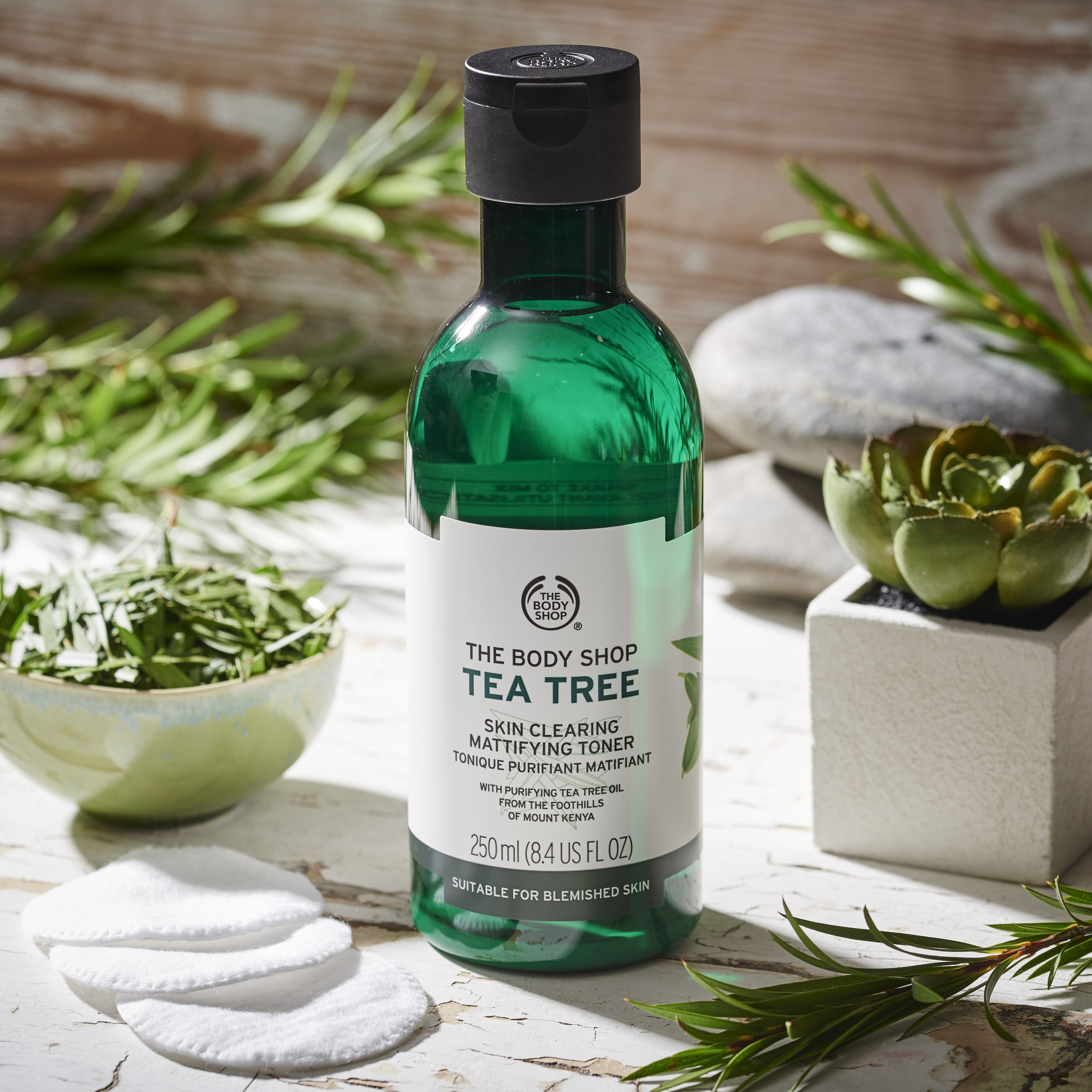 Toning Your Skin Is An Important Step In Your Regime The Tea Tree Skin Clearing Mattifying Toner Tight Body Shop Tea Tree Skin Cleanser Products The Body Shop