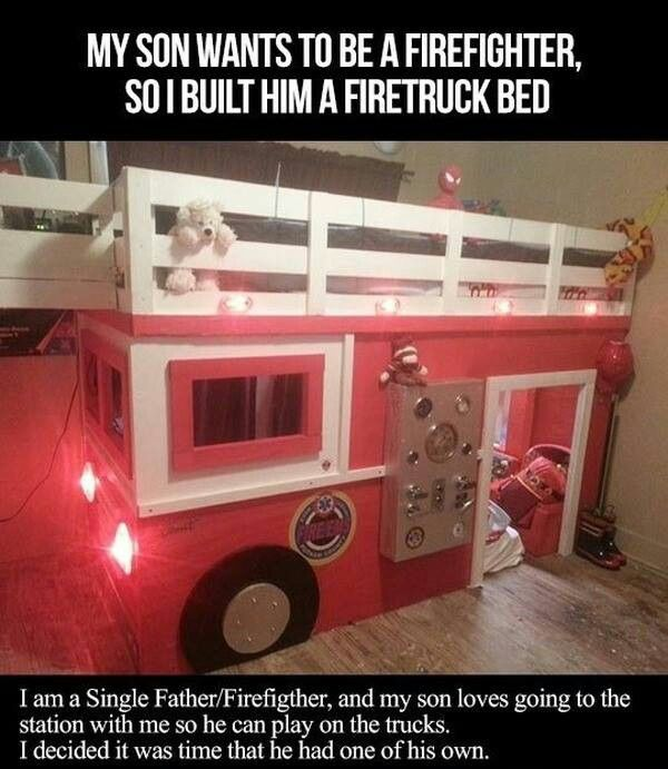 Cool Beds For Kids, Firetruck Bed, Kid Beds