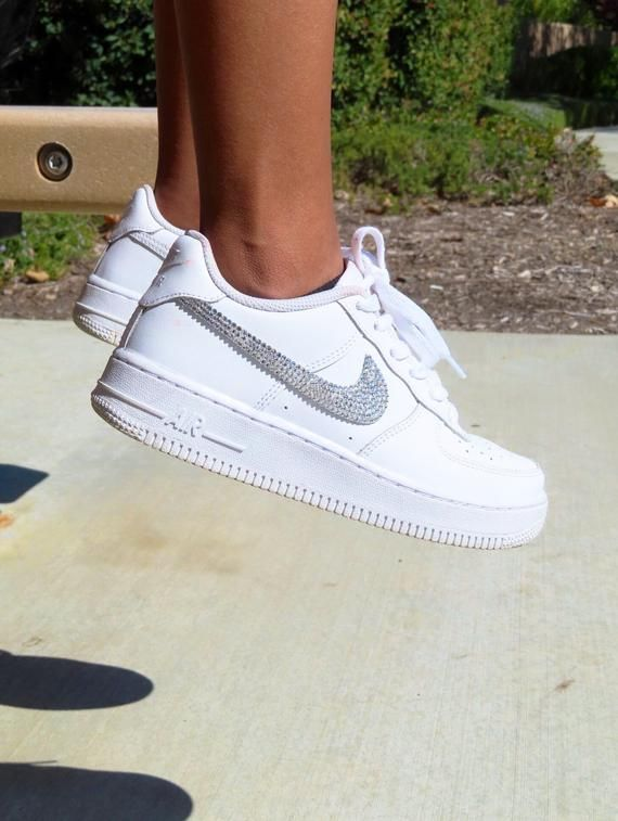 Swarovski womans nike Air Force off white low Air Force 1