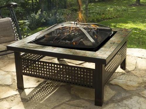 Menards Fire Pit With Slate Top Backyard Creations Fire Pit Backyard