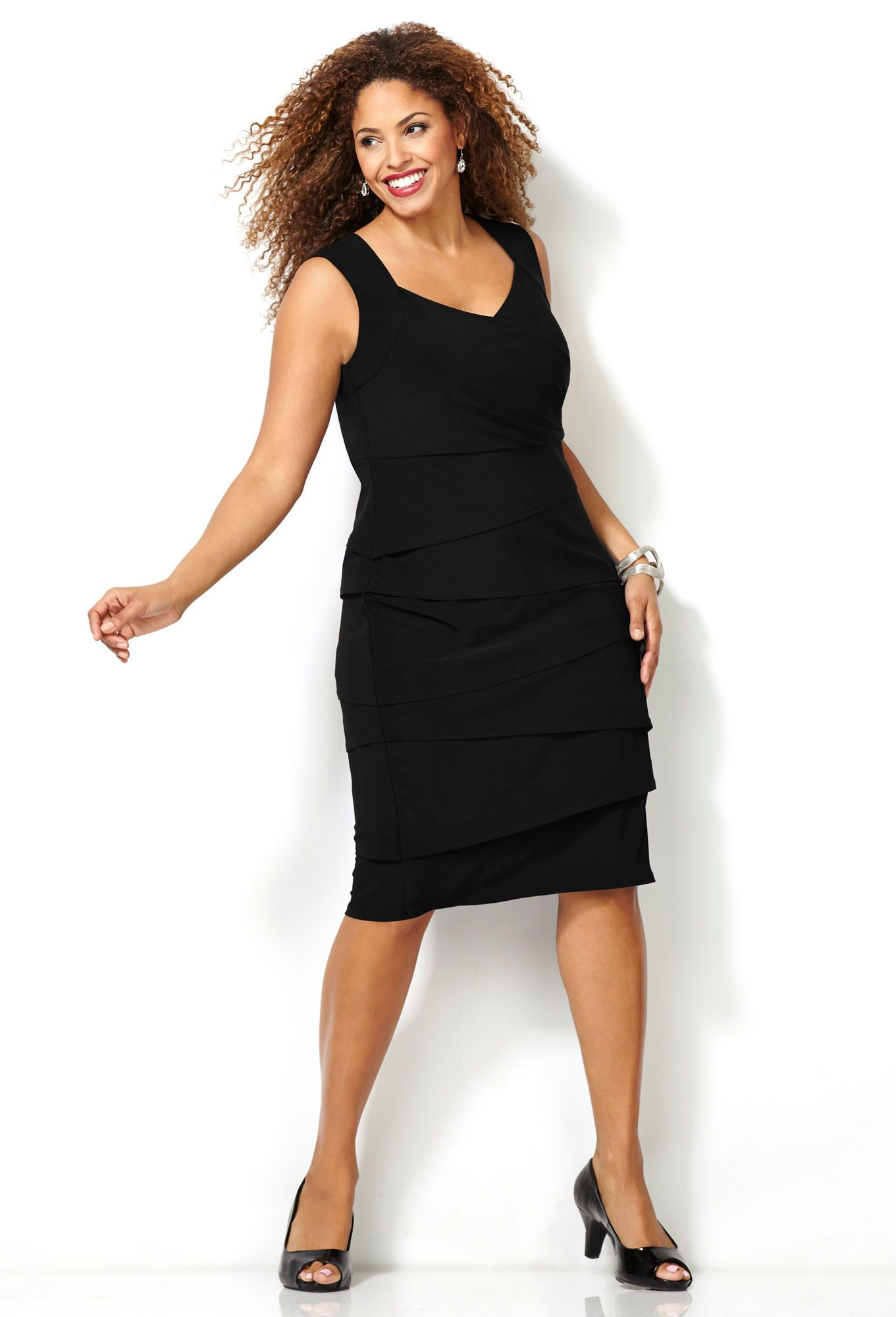 Shop Plus Size Perfect Black Dress Avenue I Think I Will Try