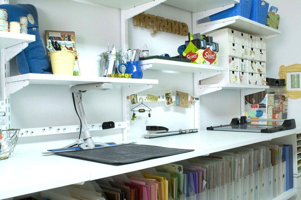 Low Elfa Shelves Above Desk Elfa Shelving Office