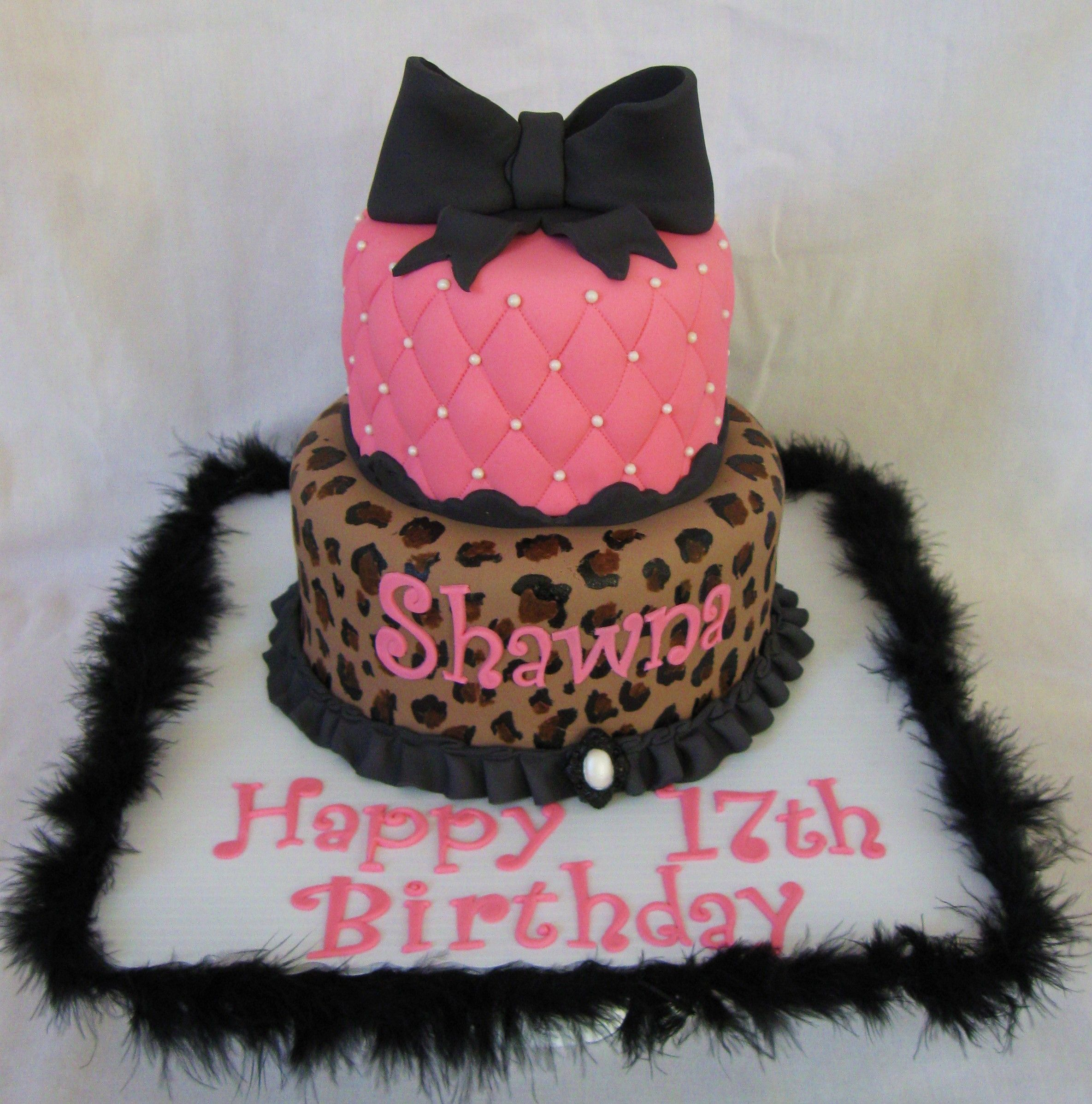 Admirable Cheetah Print Tiered Cake With Images Cool Birthday Cakes Personalised Birthday Cards Petedlily Jamesorg