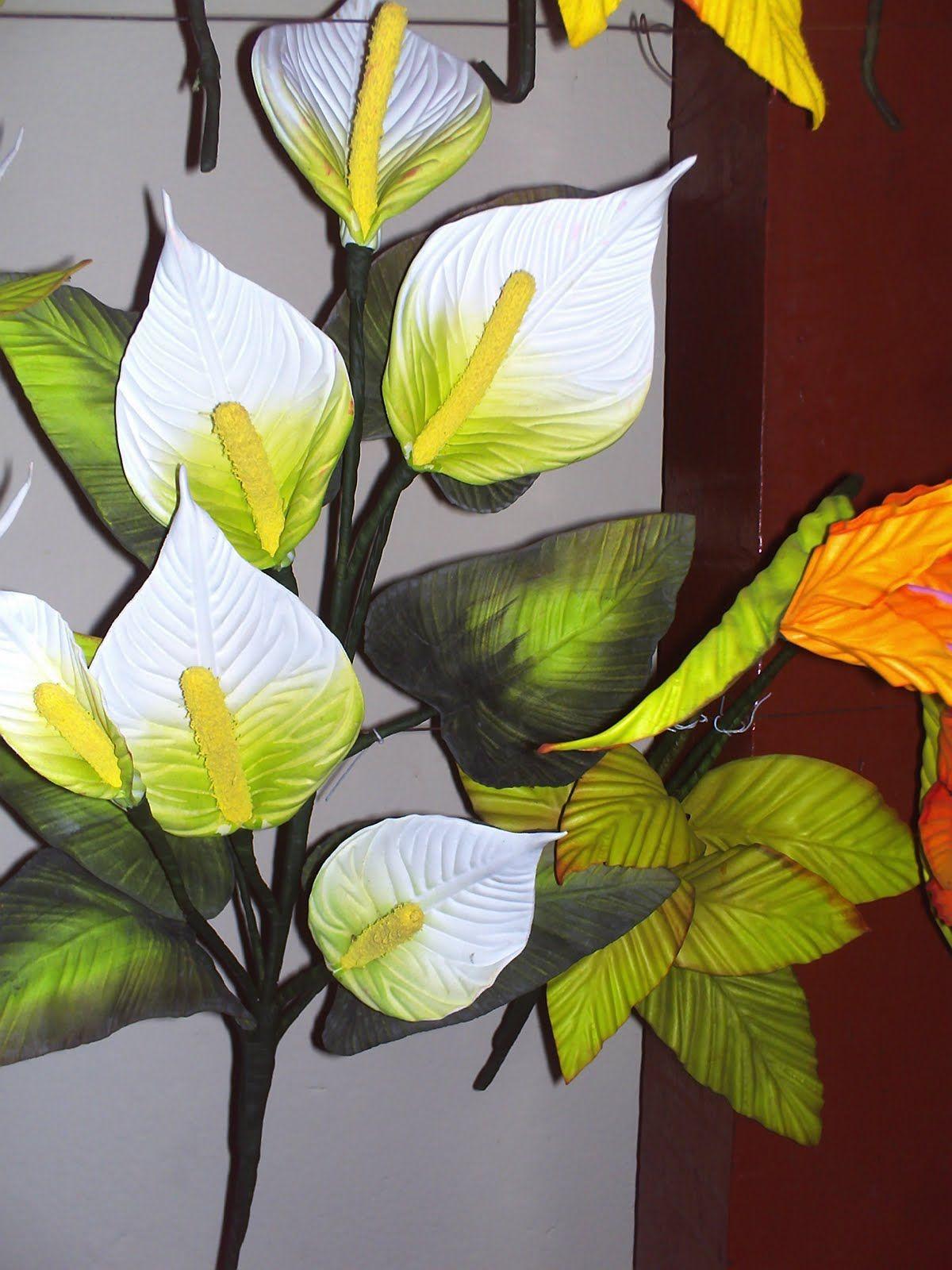 Copo De Leite E V A Arranjos De Flores Flores Em Eva Copo De