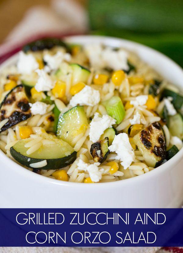 Grilled Zucchini And Corn Orzo Salad