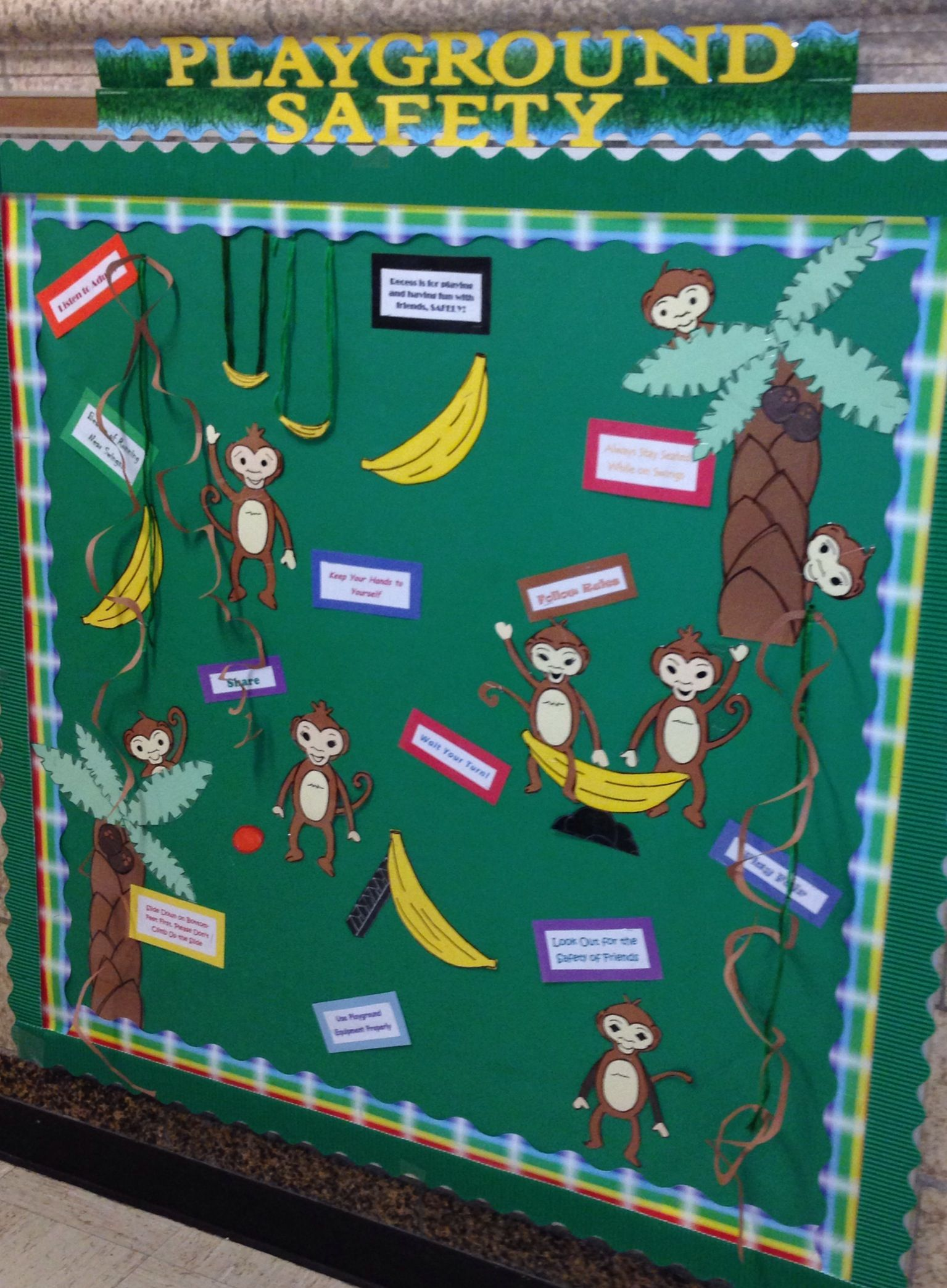 Playground Safety Year Round Bulletin Board With Images