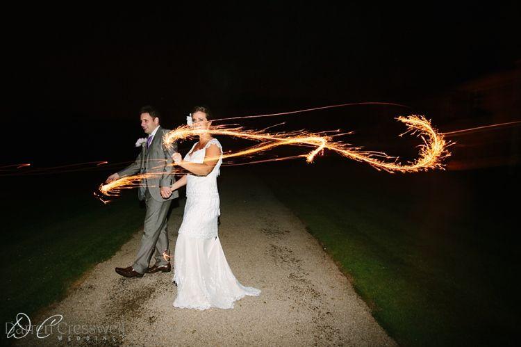 Langley Priory Wedding sparklers #langleypriory