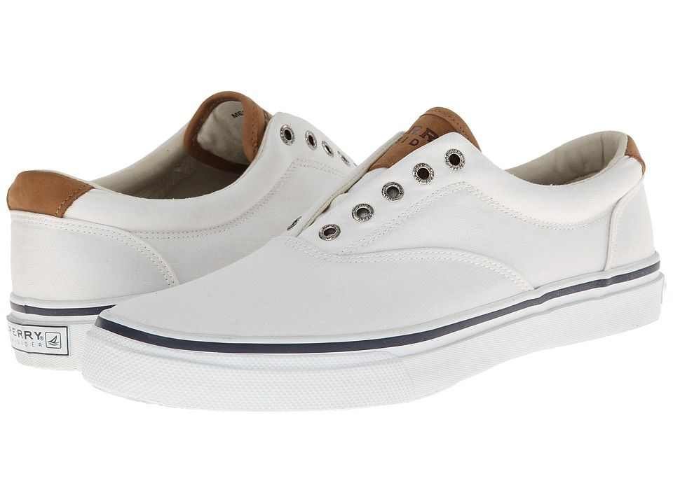 733e052b41cb8 Sperry Striper CVO Salt-Washed Twill Men s Lace up casual Shoes White Sperry  Top Sider