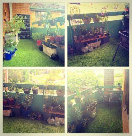 62 Ideas Apartment Patio Ideas Balconies Fake Grass For ...
