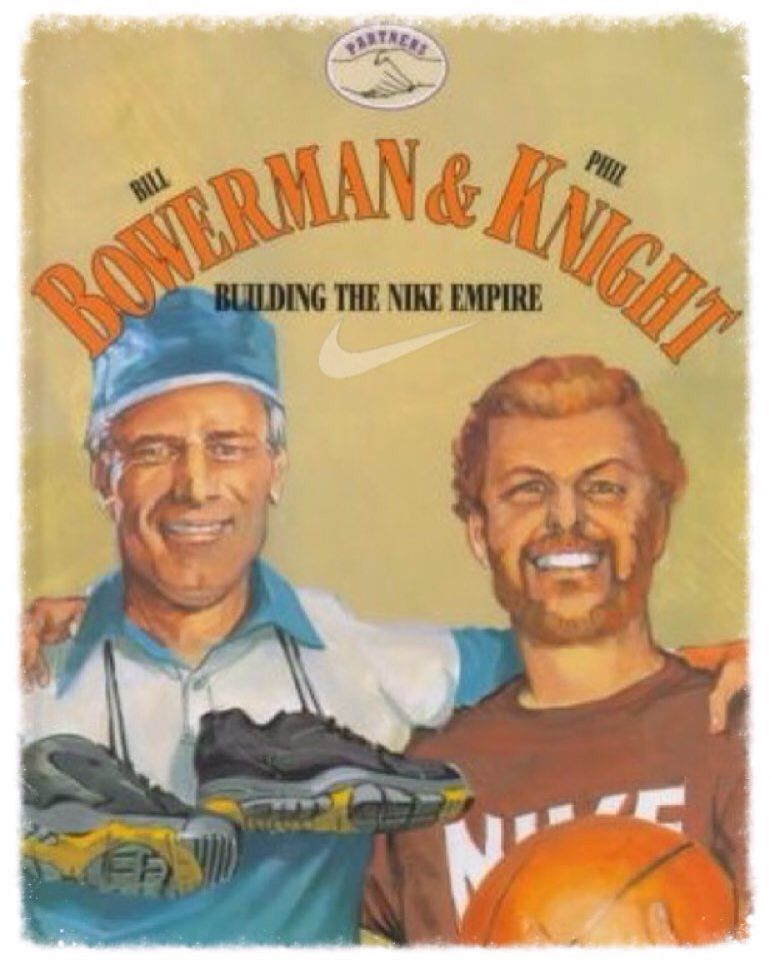 Bill Bowerman and Phil Knight, co-founders of Nike. (Building the Nike
