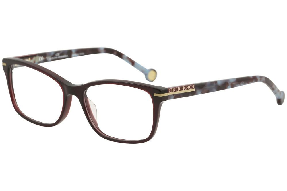 358f999b46a4 CH Carolina Herrera Eyeglasses VHE729K VHE 729K 0954 Burgundy Optical Frame  53mm