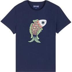 Photo of Herren Ready to Wear – Herren Baumwolle T-Shirt Stickmuster – T-Shirt – Tao – Blau – L – Vilebrequ