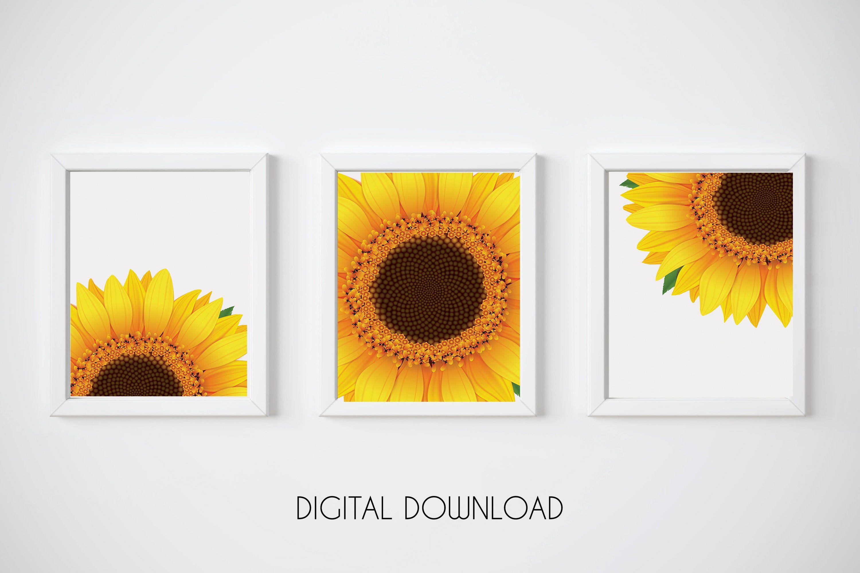 Sunflower Decor Sunflower Wall Art Yellow Wall Art Etsy Sunflower Wall Art Etsy Wall Art Navy Blue Wall Art