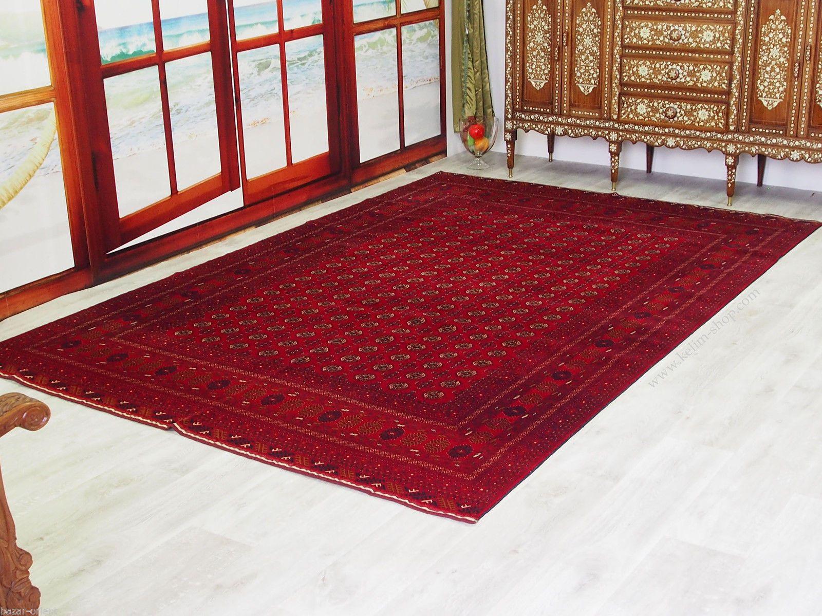 305x200cm Afghan Turkmen Bukhara Orientteppich Rug Carpet Afghanistan Seide 16 7 Ebay