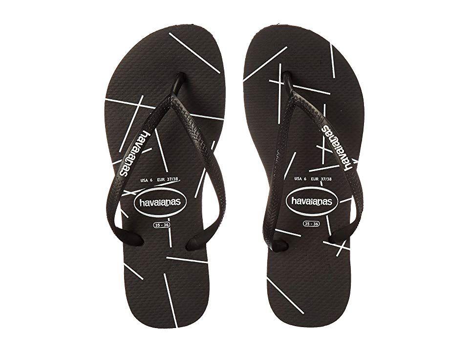 923d1f3ad13abb Havaianas Slim Logo Stripes Flip Flops (Color Block White) Women s Sandals.  Please note