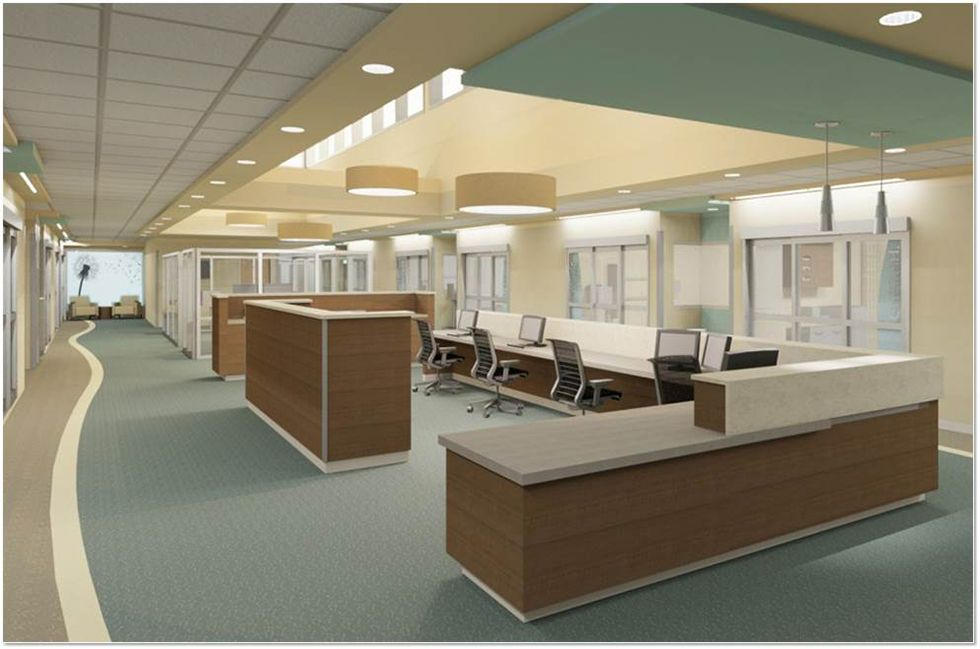 Image result for typical nursing station layout Room