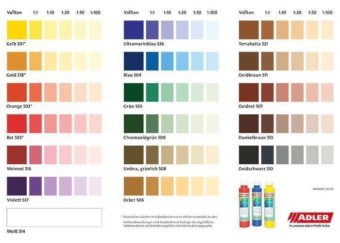 Colorit Farbkarte Farbtoene Wandfarbe Wandbild Wand Wande