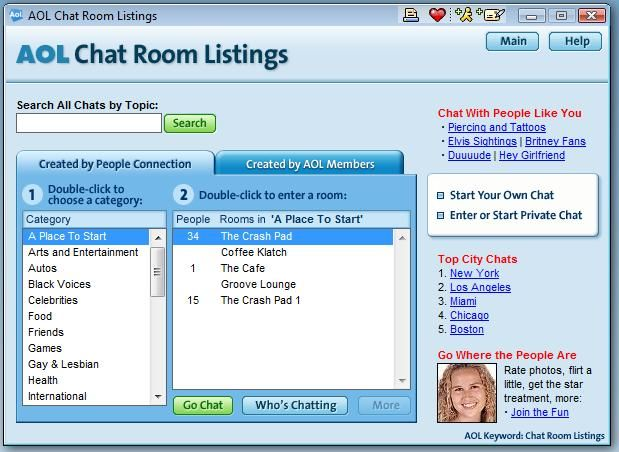 Online chat room dating