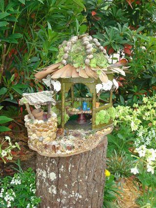 <3 Fairy house in Pixie Hollow Fairy Gardenat Epcot's International Flower and Garden Festival, Walt Disney World.