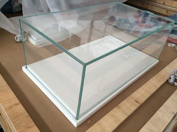 High Tempered Glass Countertop Display Cases For Cell Phone Display