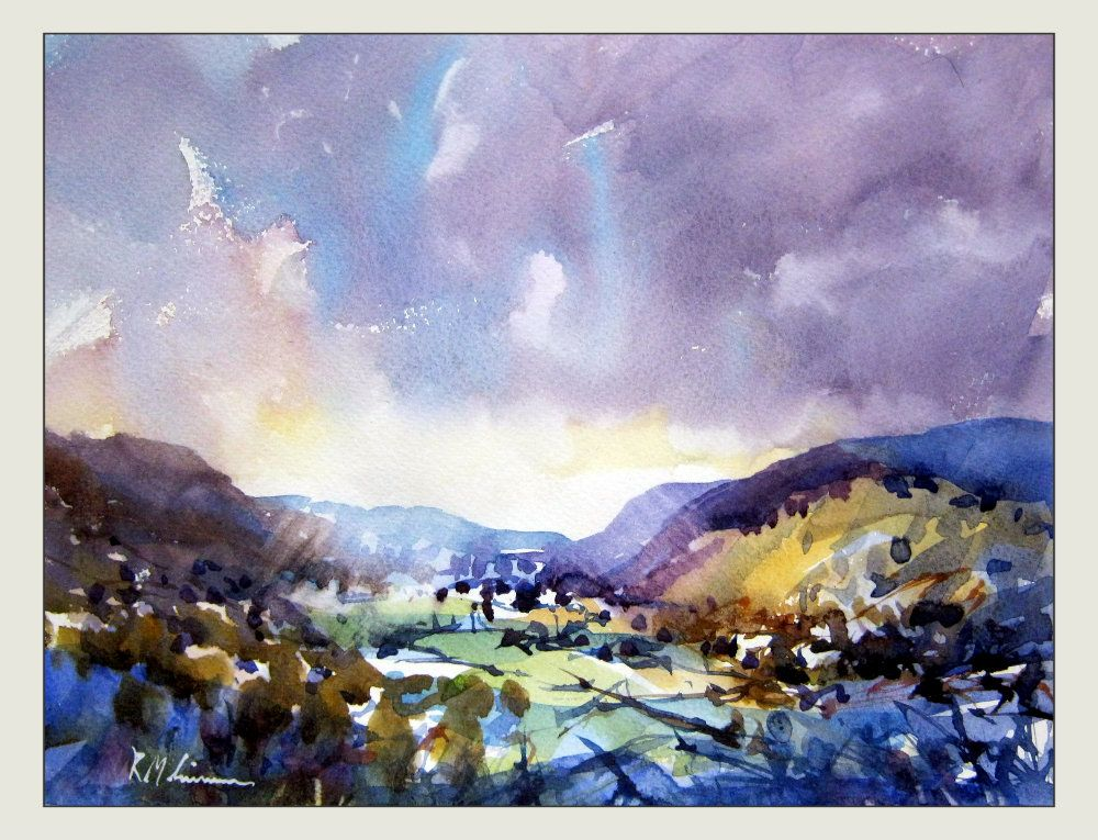 3 Loose Watercolors Watercolor Landscape Paintings Landscape Paintings Watercolour Inspiration