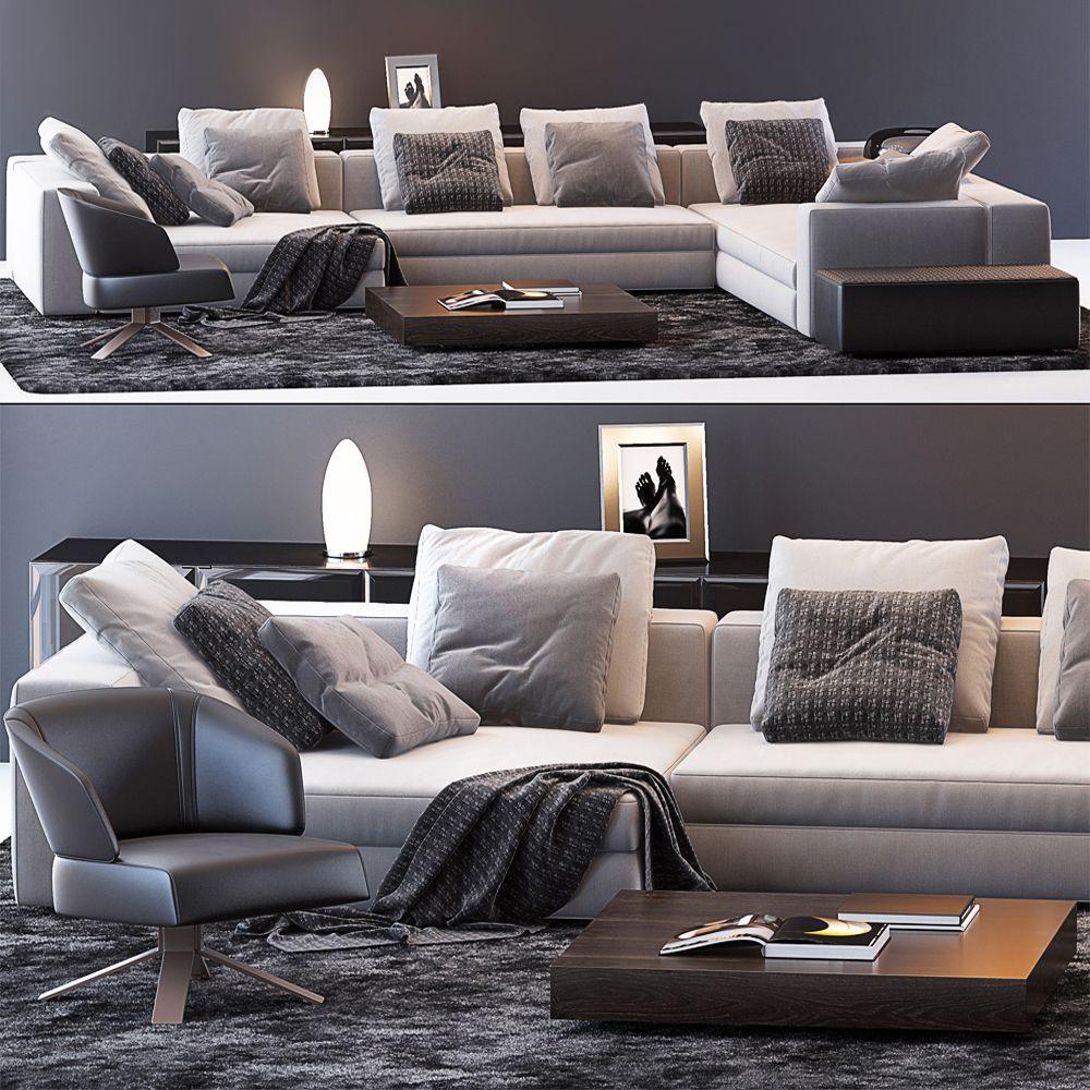 3d Model Minotti Set Sofa 175 Free Download In 2020 Sofa Furniture Furniture Sofa