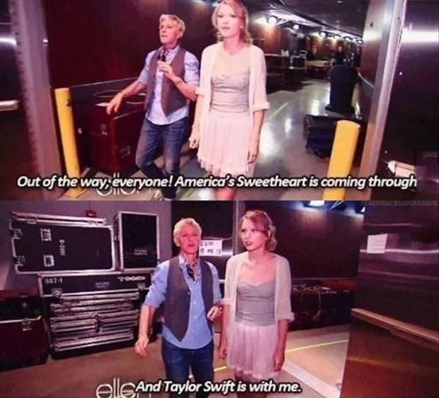 ellens funny photos | funny ellen degeneres and taylor ...