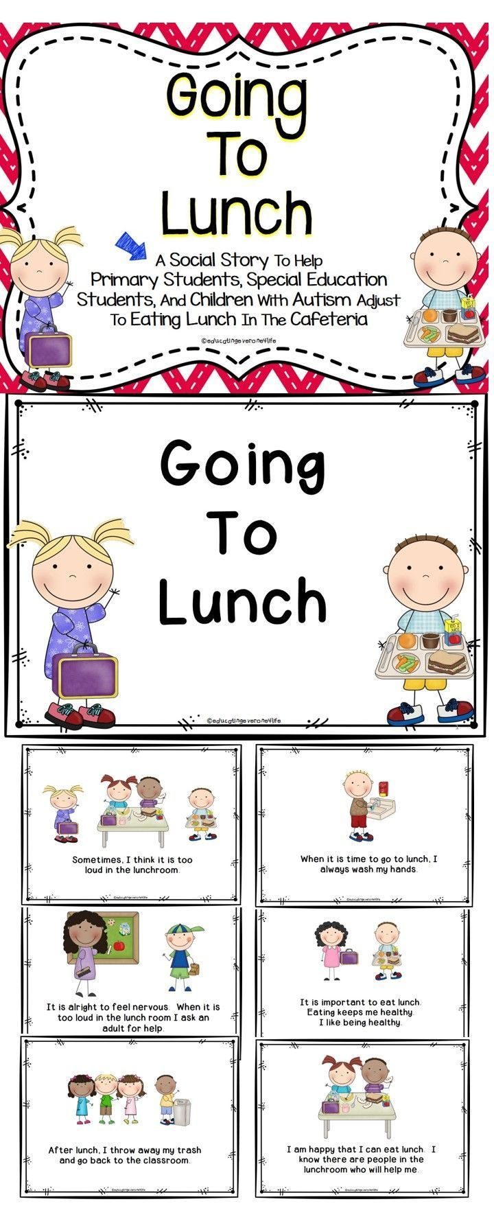 Going To Lunch Social Story | Classroom resources, Teacher ...