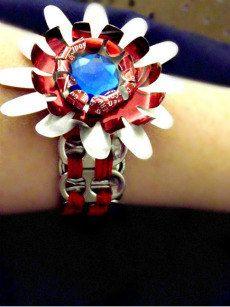 dr pepper pull tab bracelet by SugarPlumDesignTB on Etsy, $4.00