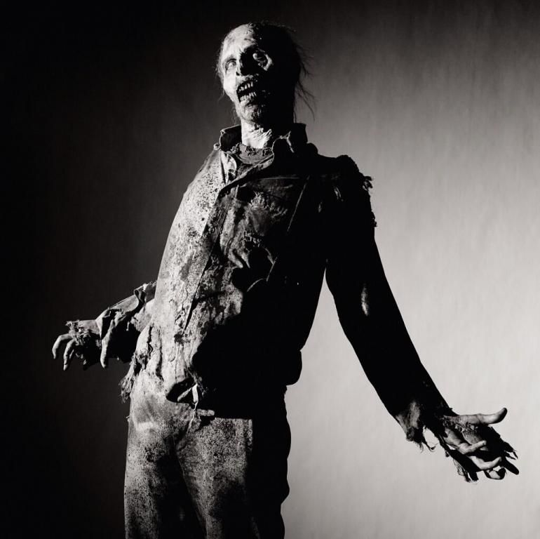 """Official photo of a walker from season four of """"The Walking Dead."""" AMC"""